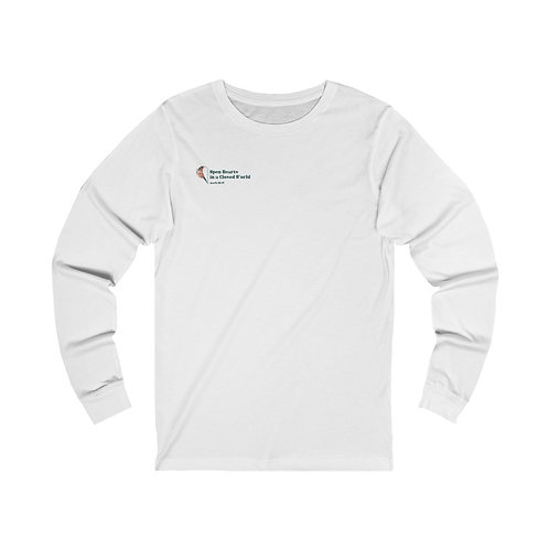 Open Hearts In a Closed World Conf Long Sleeve Tee - Front and Back