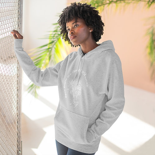 Open Hearts in a Closed World Stencil Pullover Hoodie
