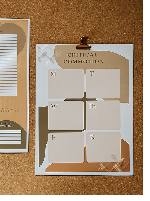 Critical Commotion Printable