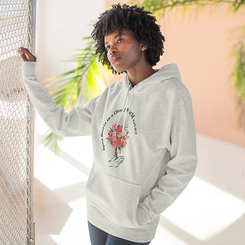 Open Hearts in a Closed World Pullover Hoodie