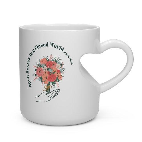 Open Hearts Logo Heat Handle Mug