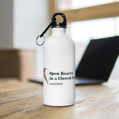 Opened Heart Stainless Steel Water Bottle