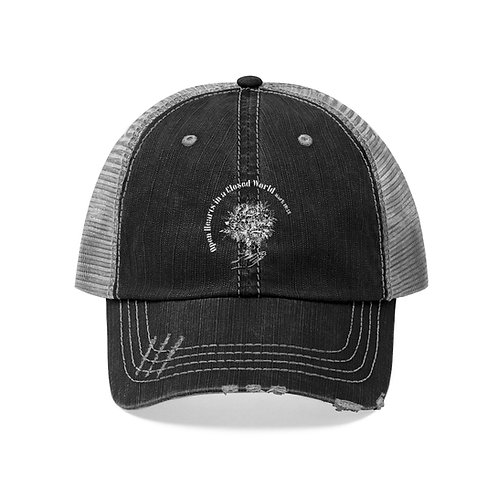 Open Hearts in a Closed World Embroidery Ball Cap