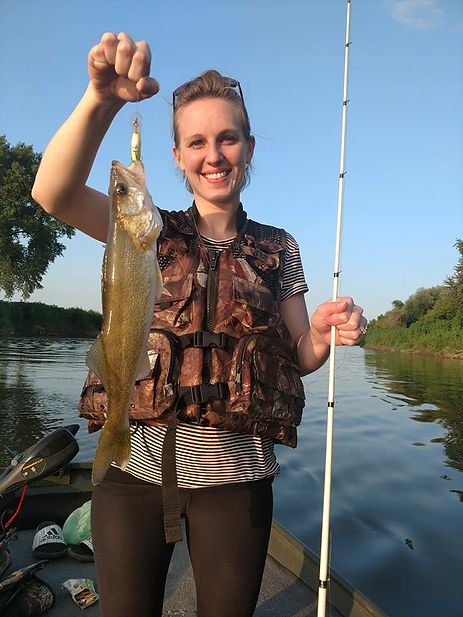 walleyes with XMO fishing Guide service