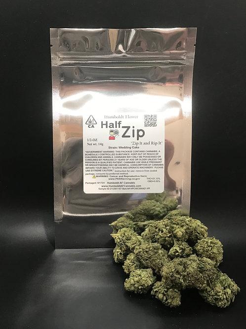 Zip Half Zip 1/2oz Wedding Cake (21.13% THC) 14g