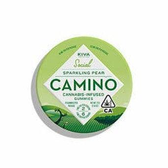 Kiva Camino Gummies Sparkling Pear 100mg