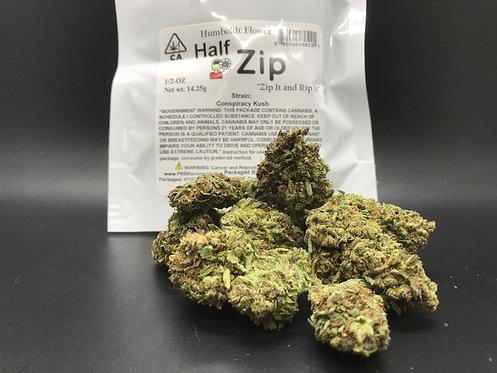 Zip Half Zip 1/2oz  Conspiracy Kush (17.94% THC) 14g