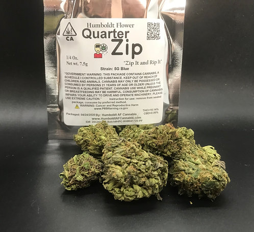 Zip Quarter Zip 1/4oz 5G Blue (16.14% THC) 7.5g