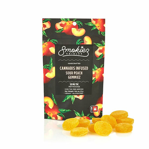 Smokiez Fruit Chews Sour Peach 100mgTHC