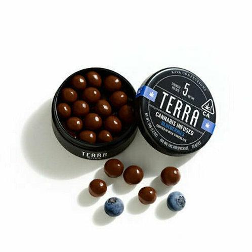 Kiva  Terra Milk Chocolate Blueberries 100mg