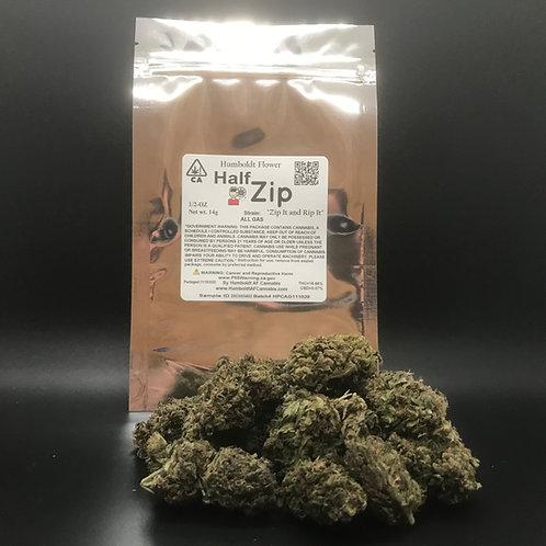 Zip Half Zip 1/2oz All Gas (16.66% THC) 14g
