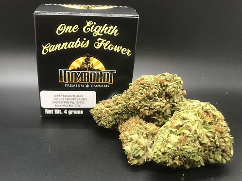 Humboldt Premium Cannabis 4g Sungrown 1/8 Lemon Banana Sherbet (18.19% THC) 4.0g