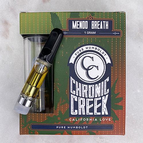 Chronic Creek Cartridge Full Gram Distillate Mendo Breath (83.31% THC) 1g