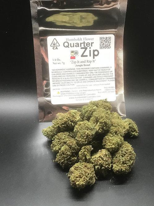 Zip Quarter Zip 1/4oz Jungle Scout (19.59% THC) 7g