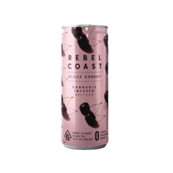 Rebel Coast Infused Seltzer Black Cherry 10mg