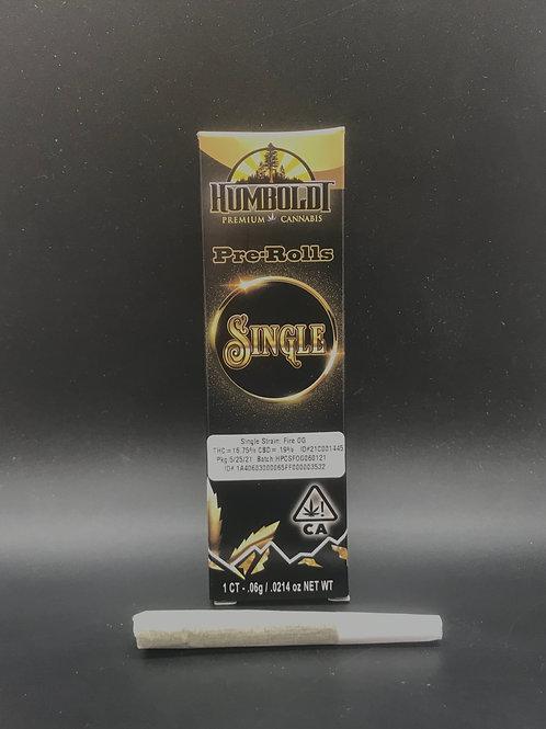 Humboldt Premium Cannabis Single Fire OG (16.75% THC) .6g