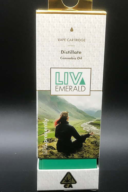 LIV Emerald Cartridge Distillate Chery AK-47 (90.012% THC) 1g