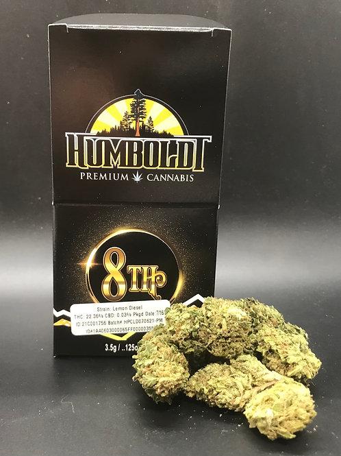Humboldt Premium Cannabis 3.5g Sungrown 1/8 Lemon Diesel (22.36% THC) 3.5g
