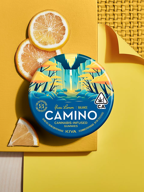 Kiva Camino Gummies Yuzu Lemon 100mg