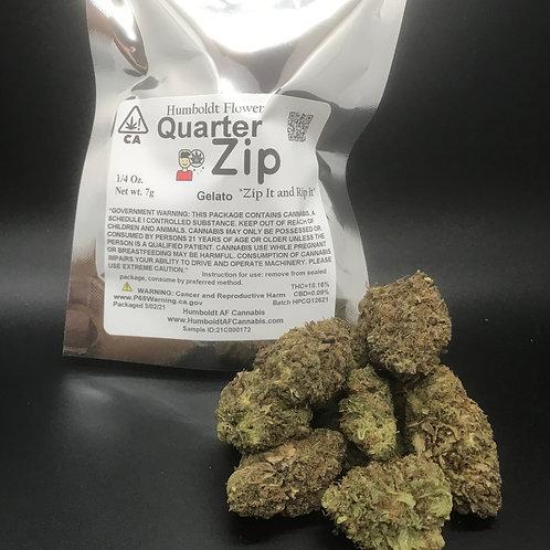 Zip Quarter Zip 1/4oz Gelato(18.16% THC) 7g