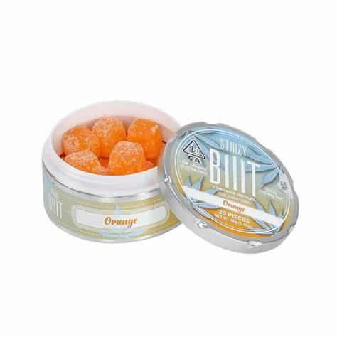 Biiit Sour Gummy Cubes Orange 100mg THC per package