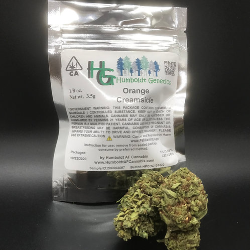Humboldt Genetics Sungrown 1/8 Orange Creamsicle (13.89% THC) 3.5g