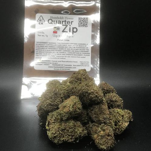 Zip Quarter Zip 1/4oz Purple Urkle (15.72% THC) 7g