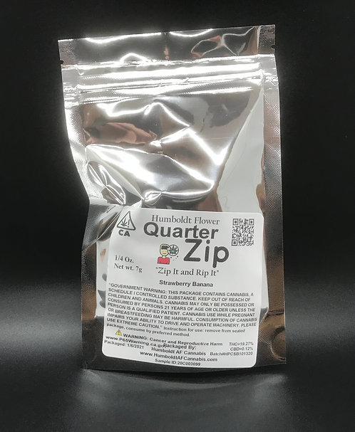 Zip Quarter Zip 1/4oz Strawberry Banana (19.72% THC) 7g