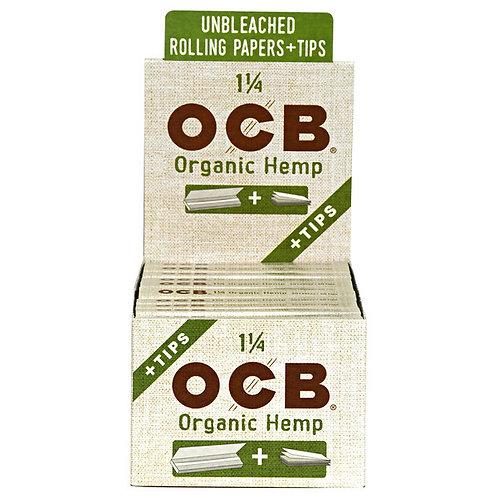 OCB Organic Hemp 1 1/4 Paper W/Tip