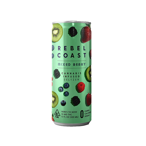 Rebel Coast Infused Seltzer Mixed Berry 10mg