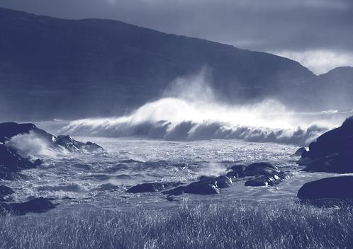 Moonlight Waves at Wild Derrynane