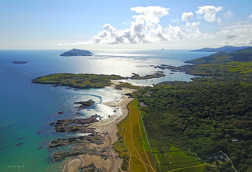 Aerial Derrynane, Abbey, Deenish, Scarriff and Skelligs