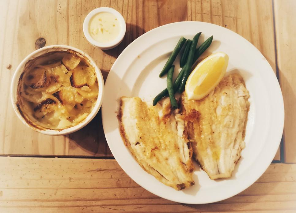 Friday Night fish - Pan fried Lemon Sole Meunière