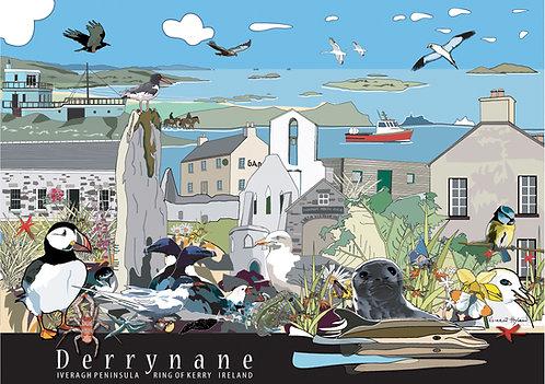 Derrynane Illustrated Print