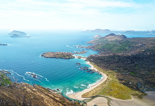 Aerial Derrynane Bay from up high