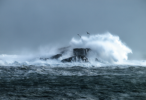 Special Offer - Storm at Illaunaweelaun Island, Rath