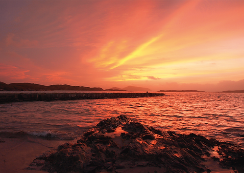 Special Offer - Derrynane Harbour Sunset Winter Solstice