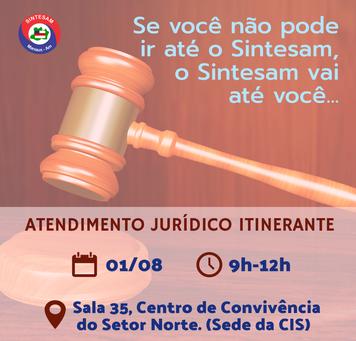 SINTESAM LEVA ATENDIMENTO JURÍDICO ITINERANTE A FILIADOS(AS)