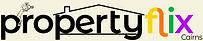 Logo - Propertyflix Cairns - Black on Cream with House & Photographer for Website Footer.jpg