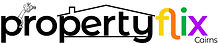 Logo - Propertyflix Cairns - Black on Wh