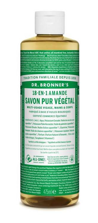 Savon liquide amande 475 ml - DR BRONNERS