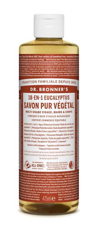 Savon liquide Eucalyptus 475 ml - DR BRONNERS
