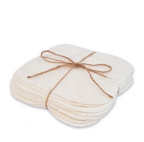 lingettes lavables en coton bio fait main - parfumerie Basic