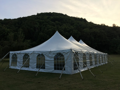 30'x60' Pole Tent, Cathedral Sides