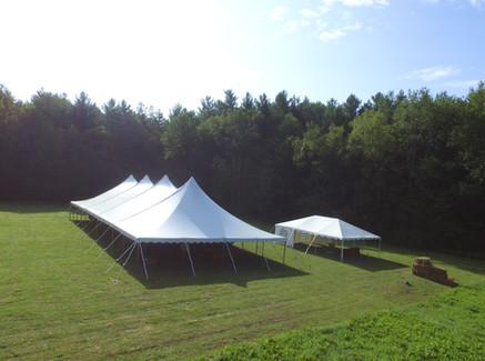 40'x100' Pole Tent, 20'x30' Frame Tent