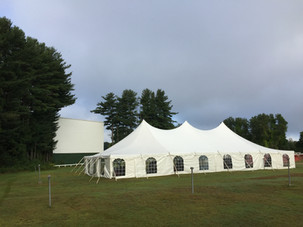 40'x80' Pole Tent, Cathedral Sides