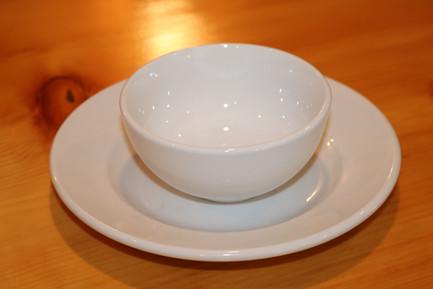 """4"""" White China Bowl"""