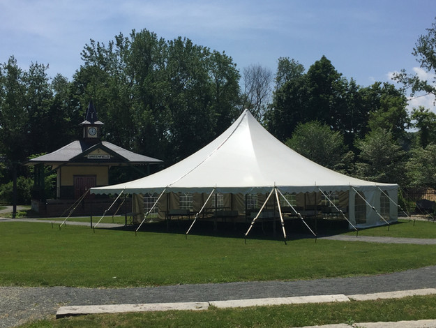 40'x40' Pole Tent, Cathedral Sides