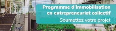Lancement du Programme d'immobilisation en entreprenariat collectif