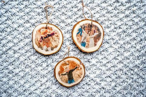 Set of three ornaments